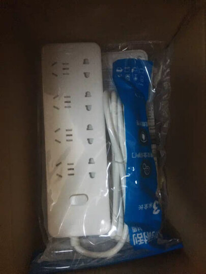 飞利浦(PHILIPS)新国标安全插座 插排/插线板/排插/拖线板/接线板3米 儿童保护 8位 晒单图