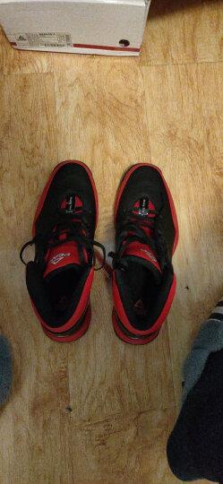匹克官方(PEAK) 篮球鞋男高帮透气革面运动鞋新款减震耐磨防滑经典基础战靴 黑色(建议拍大一码) 43 晒单图