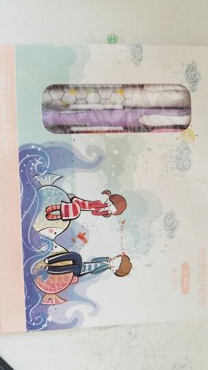 英雄(HERO)学生钢笔男女款0.38mm卡通正姿铱金钢笔+可消字笔+墨囊套装 10支装 蓝色 晒单图