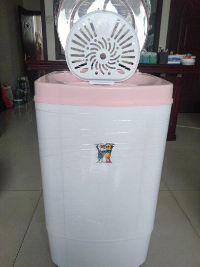 小鸭 T68-188 6.8kg脱水机 单筒甩干机 迷你甩干桶干衣机 粉红色 晒单图