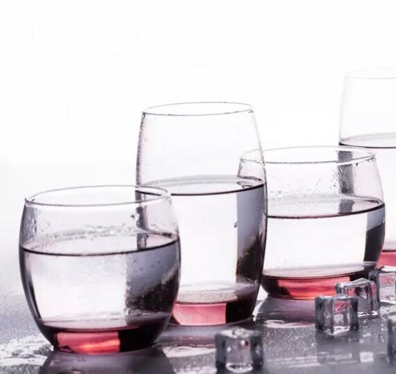乐美雅 Luminarc 萨通凝彩直身杯无铅玻璃水杯啤酒杯 高款无色透明6支装(350ML)+杯架 晒单图