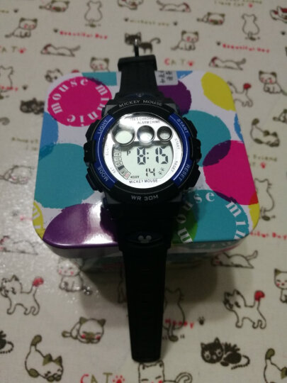 迪士尼 Disney 儿童手表 防水夜光电子表 黄色男孩户外 运动表 学生手表 MK-15053Y 晒单图