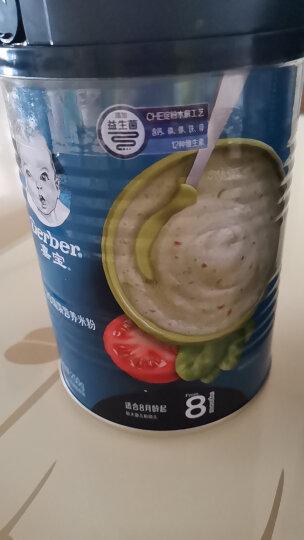 嘉宝(Gerber)婴儿辅食 混合蔬菜味 宝宝营养高铁米粉米糊3段250g(8个月至36个月适用) 晒单图