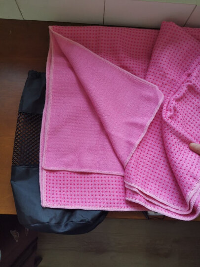 弥雅(MIYA UGO)树脂铺巾 183*66cm环保防滑瑜珈毯吸汗加厚瑜珈巾瑜珈毛巾 玫红色(含铺巾包) 晒单图
