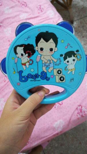 韩国冬己儿童幼儿园手拍铃玩具0-6-12个月婴儿手拍鼓手摇铃手拍鼓拍拍鼓乐器教具3-6岁 婴幼儿小孩手拍铃玩具礼盒(冬己铃鼓)男孩王子蓝色 晒单图