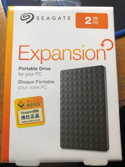 希捷(Seagate)2TB USB3.0移动硬盘 睿翼系列 2.5英寸 (高速稳定 轻薄便携 磨砂质感 黑钻版) 晒单图