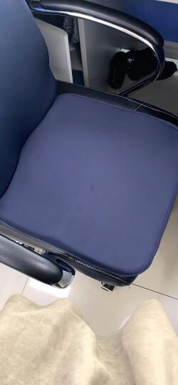 飞天 透气记忆棉腰靠加厚汽车腰垫加大办公室靠枕座椅靠背垫椅子腰部靠垫孕妇护腰枕抱枕 藏青--标准款 晒单图