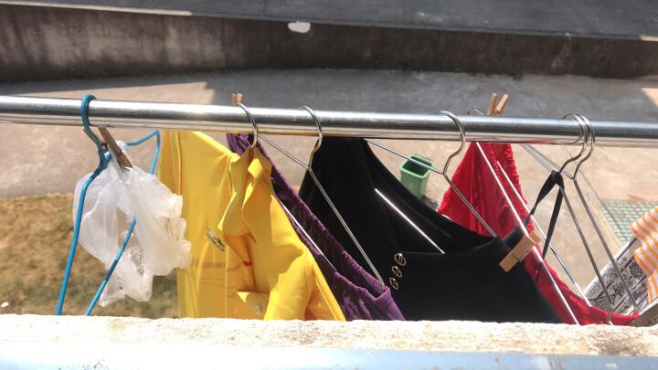 【20个装】卡三加粗不锈钢衣架实心晾衣架成人衣架子衣挂衣撑衣服架子 10个装 42cm(男女适用) 晒单图