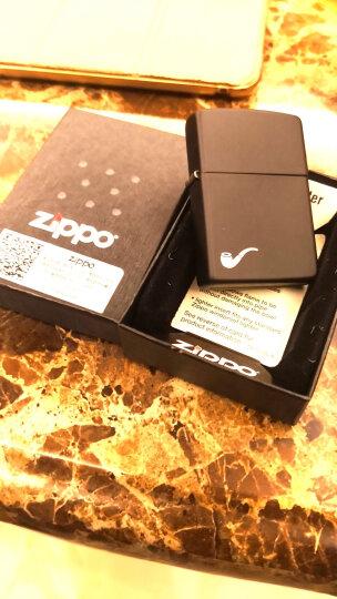 之宝(Zippo)打火机 烟斗沙子 拉丝镀铬水平式点火内胆彩印200PL 煤油防风火机 晒单图