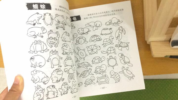 简笔画10000例儿童简笔画大全3-6-8-12岁儿童涂鸦手绘画画书少儿美术绘画素材培训教材幼儿园 晒单图