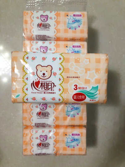 心相印婴儿抽纸 3层120抽面巾纸*3包婴儿纸巾(大规格提装销售) 晒单图