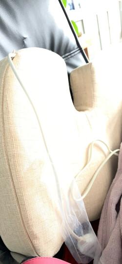 昕科护腰靠垫办公室腰枕座椅靠垫靠枕记忆棉孕妇电热靠背 加热坐垫-米色 晒单图