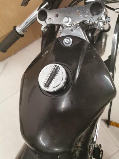 2019全新款 49CC迷你摩托车 跑车 升级款 雷改小跑车 带真空胎 铝把手 可加电启动 黑色 四冲程双排气 晒单图