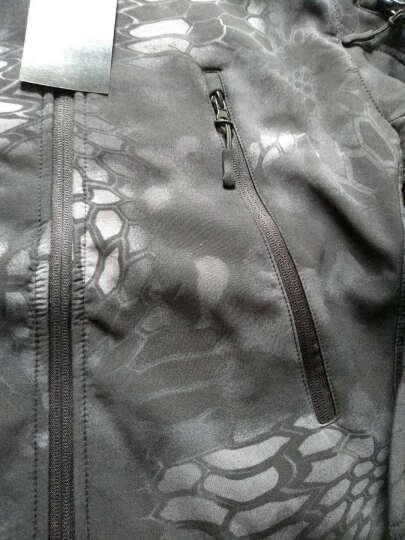策马 户外鲨鱼皮软壳冲锋衣男女冬季保暖加绒加厚防风衣服保暖登山服迷彩外套 灰色 S 晒单图