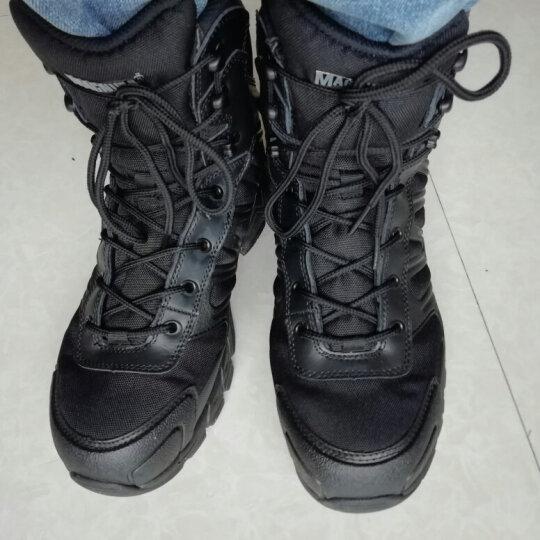 MAGNUM 游骑兵 轻型战术作战靴沙漠靴登山鞋 男士户外徒步靴 黑色 42 晒单图