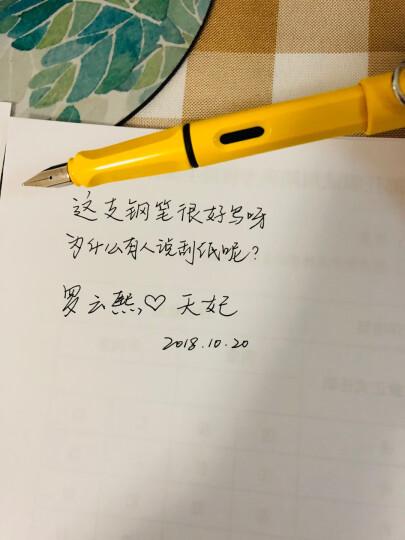 凌美LAMY钢笔签字笔水笔Safari狩猎者男女商务办公礼品笔黄色EF尖成人学生练字钢笔(龙骨盒套装带吸墨器) 晒单图