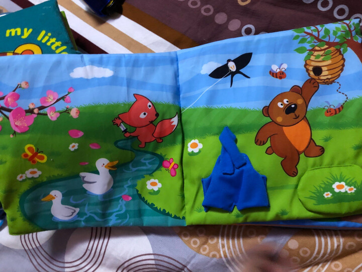 LALABABY/拉拉布书 益智玩具认识日常生活 1-3岁宝宝早教 立体布书 独立玩偶 快乐的一天 晒单图