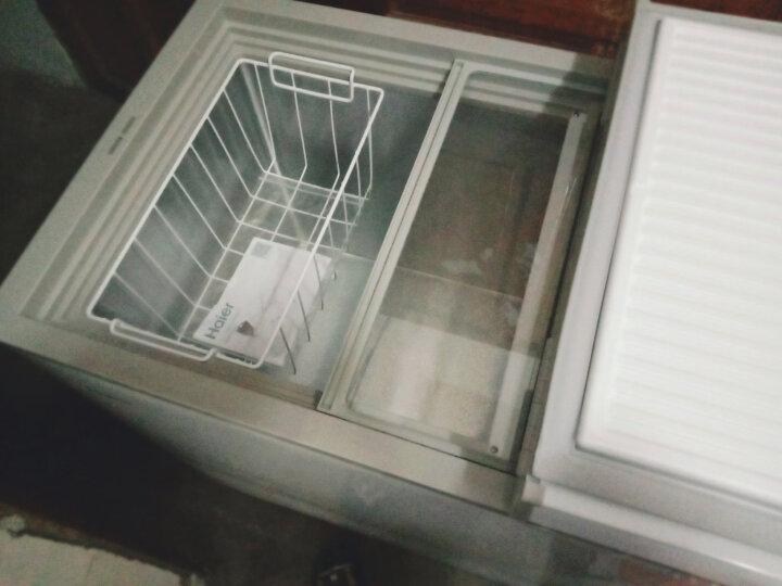 海尔(Haier) 221升冷柜 蝶形门 侧掀门 单箱变温冰柜 家用商用二合一 卧式冰箱 BC/BD-221SEA 晒单图