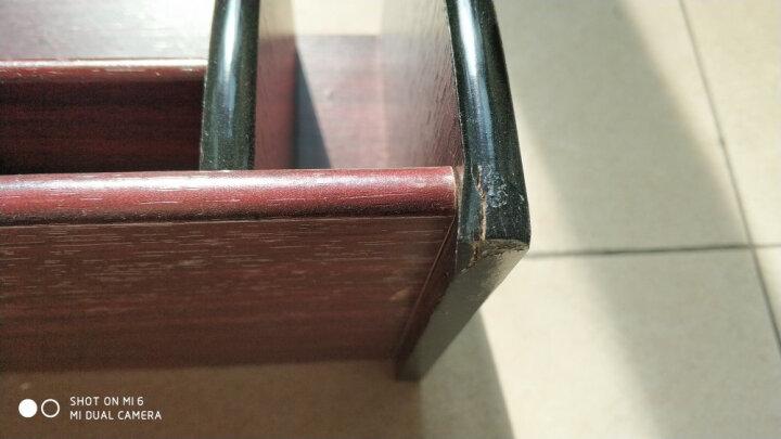 信发(TRNFA) TN-609 收纳座木质笔筒 办公桌面整理架置物柜 化妆品遥控器收纳用品盒 晒单图
