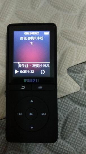 锐族(RUIZU)X20 8G 黑色 外放线控运动MP3/MP4音乐播放器迷你学生随身听便携式电子书英语听力插卡 晒单图