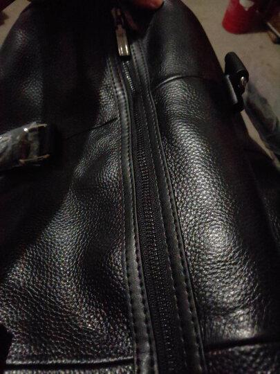斯维森之星真皮旅行包男大容量手提旅游包头层牛皮旅行袋单肩斜挎包男士健身包行李包 2096#黑色-大号 晒单图