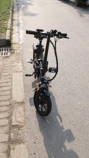 新日(Sunra) 电动自行车新国标折叠电动车锂电池滑板车成人男士女士迷你小型电瓶车代驾代步单车 尊享版炫酷黑 定制汽车电芯 助力150公里 晒单图