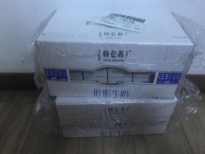 蒙牛 特仑苏 低脂牛奶 250ml*12 礼盒装 晒单图