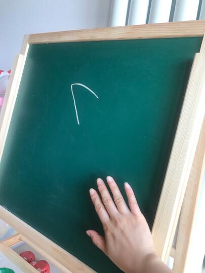 七巧板 FB018 进口实木 可升降儿童画板 双面磁性多功能木制学生黑白板 儿童绘画写字板 画架 带固定托盘 晒单图