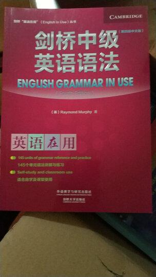 剑桥中级英语语法(第四版中文版)(剑桥英语在用丛书) 晒单图