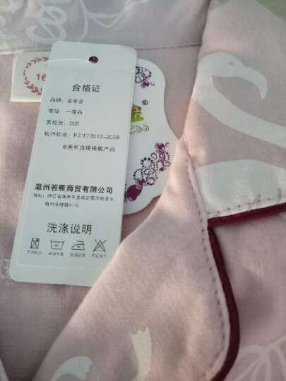 2019金多金睡衣女春夏纯棉长袖家居服套装时尚翻领加大码睡衣 粉色 M   80--105斤 晒单图
