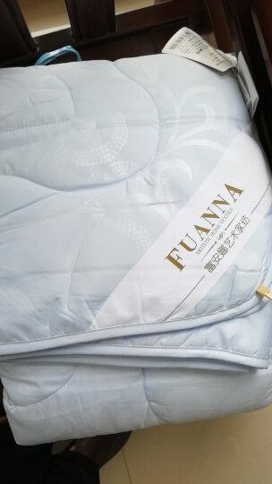 富安娜家纺空调被子 夏凉被可水洗被子夏薄被芯 超柔舒爽夏被双人加大 跃动 1米8床/2米床(230*229cm)白色 晒单图