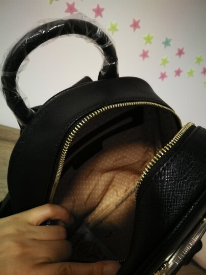 欧时纳JUST STAR女包 亮片鹿角旅行双肩包女 韩版百搭学生书包双肩背包 582浅蓝色 晒单图