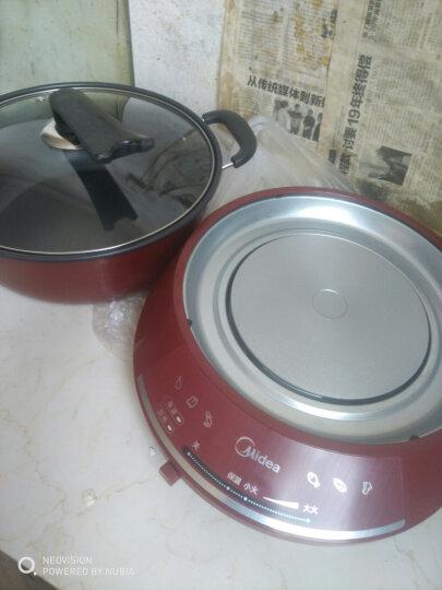 美的(Midea)电火锅大容量 分体式家用多功能电热锅 多用途锅 易清洗 DHY28 DHY28红色 晒单图