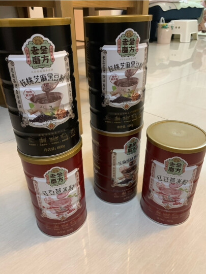 老金磨方 红豆薏米粉 薏仁五谷杂粮粉 代餐粥冲饮谷物早餐茶 600g 晒单图