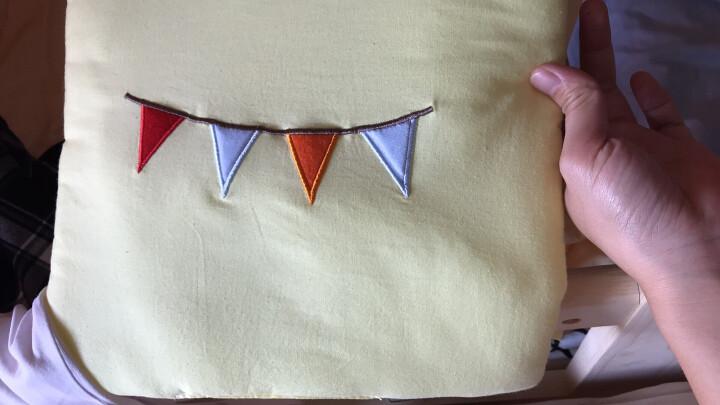 优逸斯 婴儿床围防撞围栏纯棉床帏床挡布摇篮垫一片式可拼接(6片装) 大象和猴子 晒单图