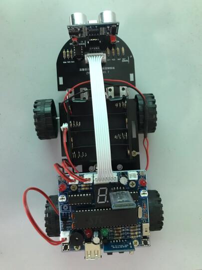 创乐博C51单片机智能小车循迹超声波避障蓝牙寻光遥控灭火机器人套件毕业设计diy制作 套餐四 散件 晒单图