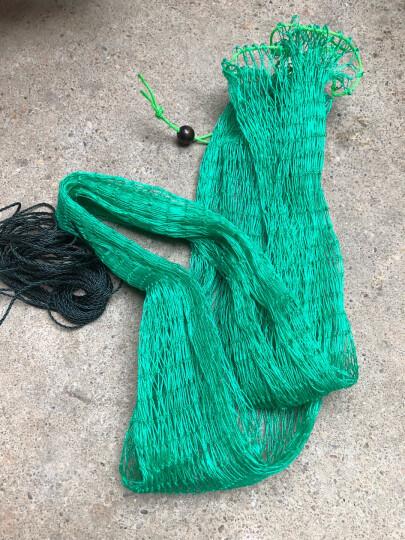 渔得利(yUDELI) 十八股线鱼护网袋简易折叠渔护鱼袋平底加宽鱼护网兜渔网渔具龙虾网 束口款0.9米(黄色) 晒单图