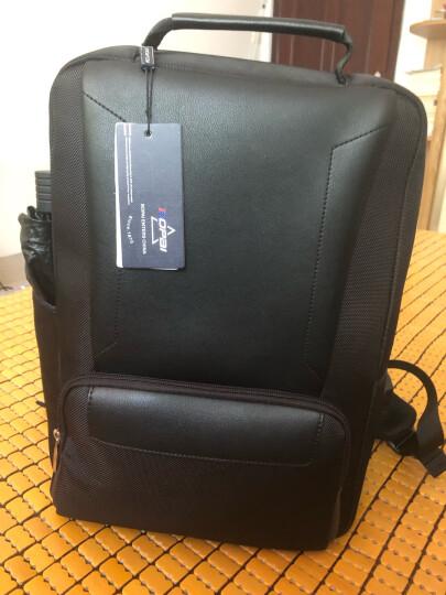 博牌Bopai双肩包男背包 商务大容量15.6吋电脑包 休闲帆布出差旅游潮书包 黑色751-007101 晒单图
