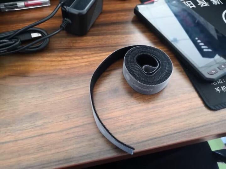绿联(UGREEN)绕线器 线缆收纳固定电源线线卡理线器夹 电脑线桌面收线夹绑线扎线带缠线器 2个装黑色 30762 晒单图