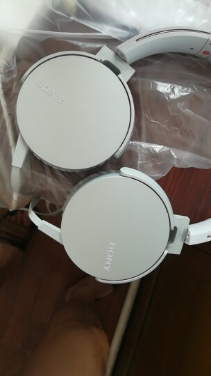 索尼(SONY)MDR-XB550AP 重低音立体声耳机 头戴式 浅灰白 晒单图