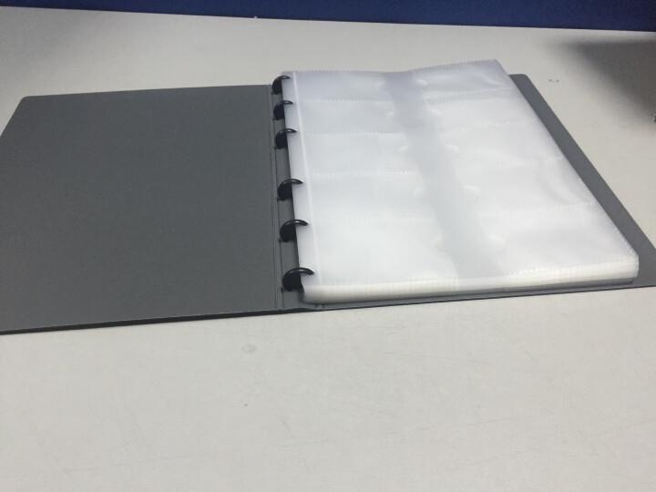 得力(deli)60袋(120枚)活页带捆绳名片册 男女商务名片卡包 蓝色5777 晒单图