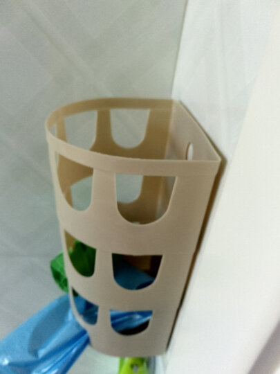 家杰 创意厨房用粘胶壁挂垃圾袋收纳篮 垃圾袋挂式抽取盒 JJ-SN301 晒单图