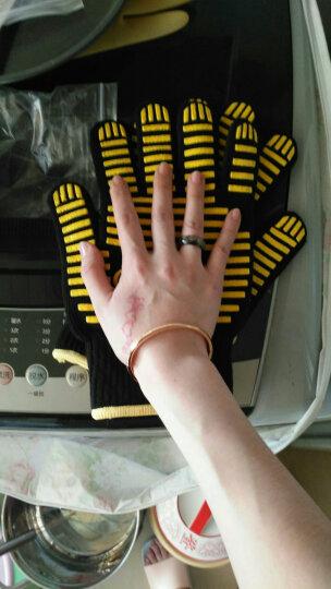魔幻厨房(Magic Kitchen)烘焙工具 耐高温手套微波炉烤箱手套 硅胶隔热防滑防烫加厚加长耐热黑色手套MK-F001 晒单图