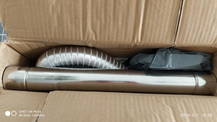 加厚304不锈钢排烟管直径6cm强排式燃气排气管弯头阀门配件适用于海尔美的万和万家乐林内等 6CMX100CM不锈钢波纹管 晒单图