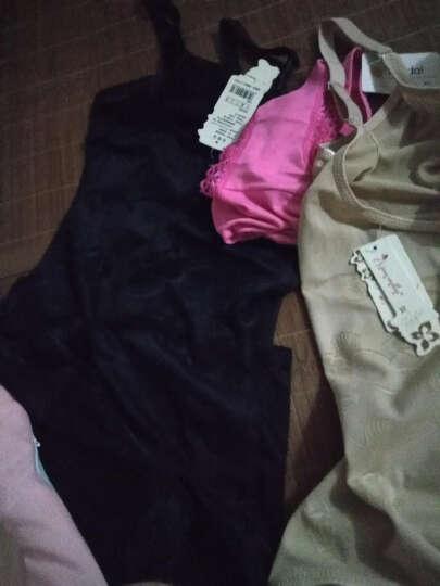 英诺莉斯塑身连体衣女士无痕产后收腹裤提臀束腰显瘦身托胸美体内衣薄款 后脱式黑色(两件) 请选择合适的尺码 晒单图