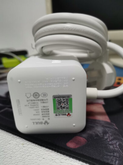 公牛(BULL)魔方USB插座 插线板/插排/排插/接线板/拖线板 3USB接口+3插孔全长3米 黑色 GN-U303H 晒单图