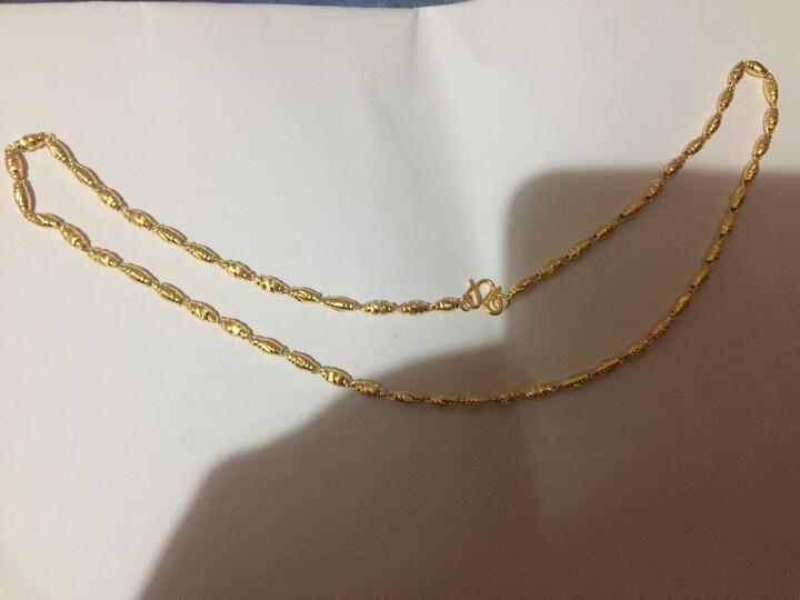 喜钻 足金橄榄珠黄金项链 黄金项链橄榄珠足金圆珠圆筒男女情侣款 约14.53g左右链长51g左右 晒单图