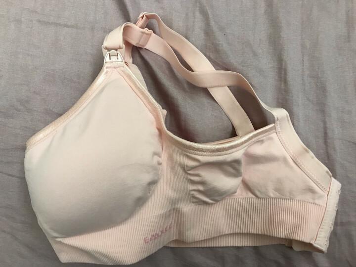 嫚熙(EMXEE)哺乳内衣孕妇文胸喂奶防下垂前开扣聚拢有型怀孕期胸罩 粉色 M 晒单图