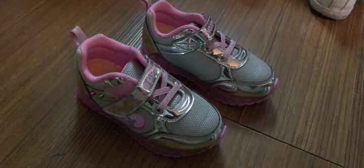 SNOOPY 史努比童鞋女童运动鞋秋季新款儿童鞋网面时尚跑鞋 255银色 36码/内长约227mm 晒单图