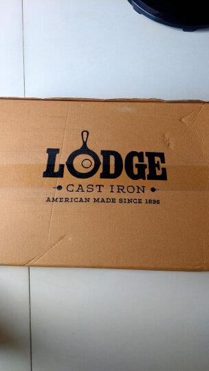 洛极Lodge 美国进口健康铸铁锅横纹牛排煎锅无涂层不易粘26cm L8GP3 晒单图